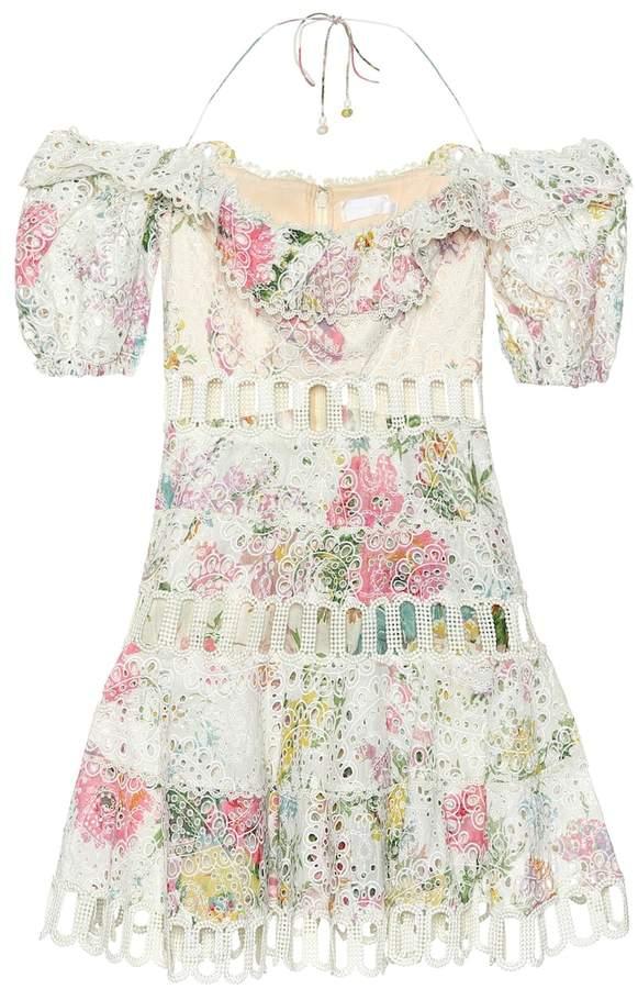 Zimmermann Heathers floral lace minidress
