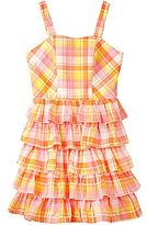 JCPenney by&by Girl All-Cotton Plaid Tiered Sundress - Girls 7-16