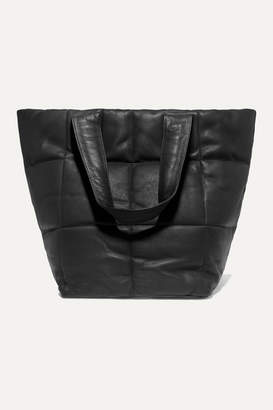 Dries Van Noten Quilted Textured-leather Tote - Black