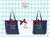 Etsy Personalized Zippered Tote Bag Bridesmaid Gift Monogrammed Tote, Bridesmaids Tote, Personalized Tote