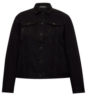 Dorothy Perkins Womens Dp Curve Black Organic Cotton Denim Jacket, Black