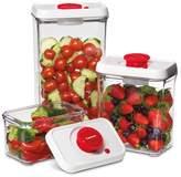 Cuisinart 6-piece Fresh Edge Vacuum Food Storage - Red