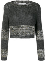 D-Exterior D.Exterior - cropped jumper - women - Nylon/Polyester/Wool/Kid Mohair - XS