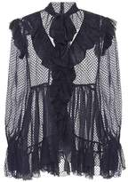 Zimmermann Frolly Ruffle silk-blend blouse