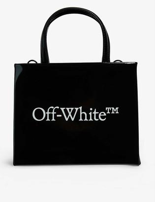 Off-White Box mini patent leather tote bag