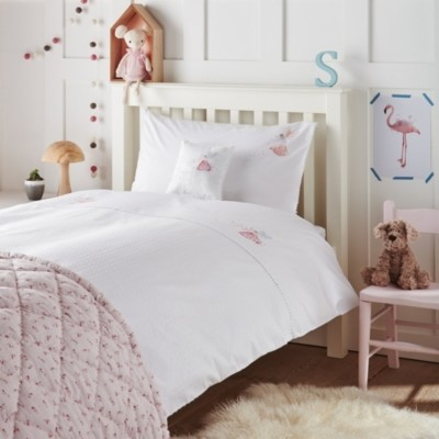 The White Company Night Night Fairy Bed Linen Set, White/Pink, Single