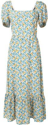 HVN Fromer floral-print dress