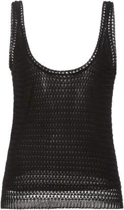 Vince Crochet Cotton-Blend Tank Top