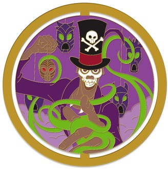 Disney Doctor Facilier Spinner Pin The Princess and the Frog Enchanted Emblems Pin of the Month Limited Edition