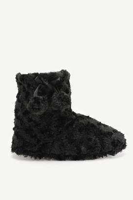 Ardene Faux Fur Bootie Slippers