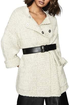 Reiss Orla Oversize Textured Cardigan