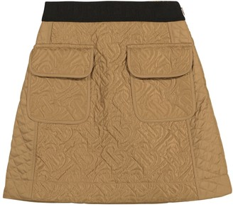 BURBERRY KIDS Monogram quilted skirt