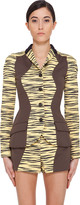 Proenza Schouler Yellow Tiger Print Jacket