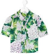 Dolce & Gabbana hydrangea print shirt - kids - Cotton - 2 yrs