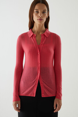 Cos Merino Wool Transparent Knitted Top