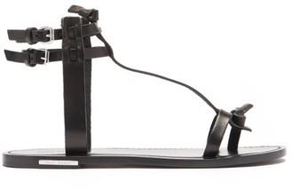 Isabel Marant Jint T-bar Leather Sandals - Black