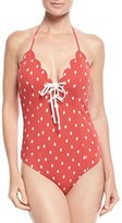 Marysia Swim Broadway Tie Maillot Printed One-Piece Swimsuit