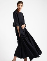 Cynthia Rowley Maxi Pintuck Dress