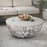 west elm Sculpted Concrete Drum Coffee Table