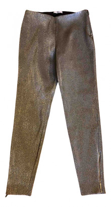 Area Silver Polyester Trousers