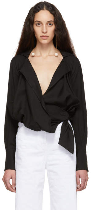 Jacquemus Black La Chemise Figari Shirt