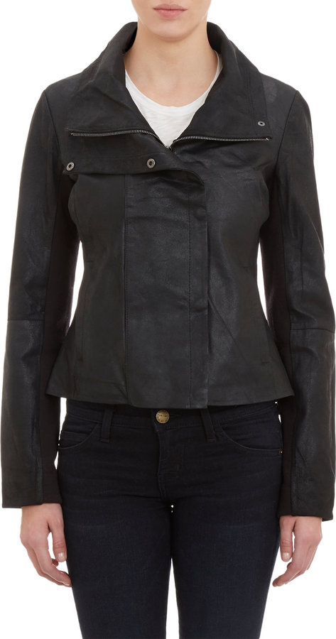 Barneys New York Paper-Leather Jacket