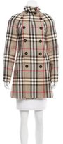 Burberry Wool-Blend Nova Check Coat