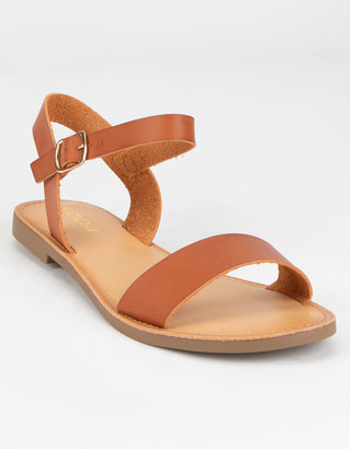 Soda Sunglasses Ankle Strap Womens Tan Sandals