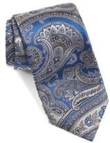 David Donahue Paisley Floral Woven Silk Tie