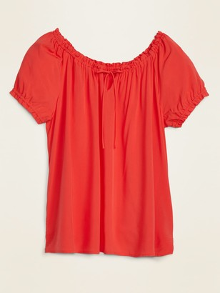 Old Navy Ruffled Tie-Neck Plus-Size Blouse