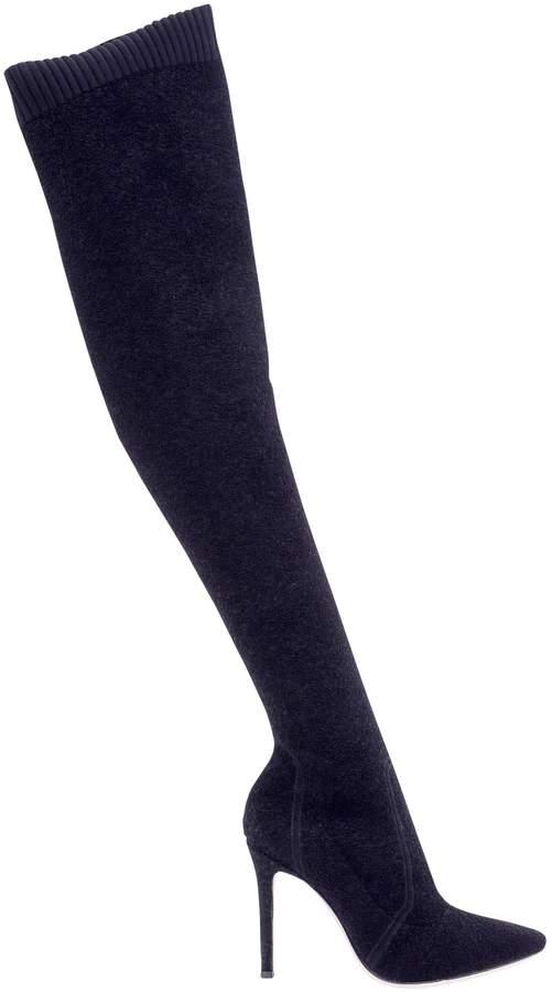 Gianvito Rossi Black Stretch Boots