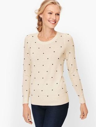 Talbots Juliet Sleeve Bobble Dot Sweater