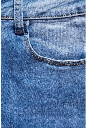 Quiz Split Hem Skinny Jeans - Denim