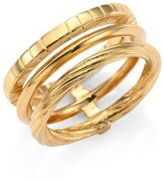 Saint Laurent Armure Phalange18K Yellow Gold Vermeil Midi Ring
