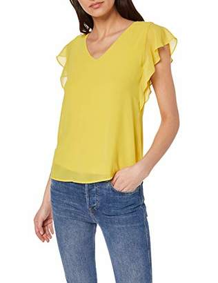 S'Oliver BLACK LABEL Women's 11.903.32.7684 T-Shirt, (Mellow Yellow 1509), (Size:36)