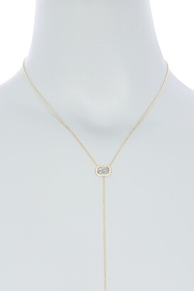 Meira T 14K Yellow Gold Quartz & Pave Diamond Y-Drop Necklace