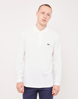 Lacoste Long Sleeve Polo Shirt White