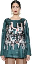 Marina Rinaldi City Printed Silk Twill Top