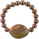 Barse Hematite & Tiger s Eye Stretch Bracelet
