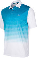 Greg Norman For Tasso Elba Men's Heather Ombré Stripe Performance Polo, Only at Macy's