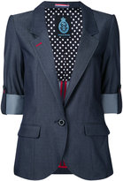 GUILD PRIME turned up cuff blazer - women - Polyester/Tencel - 36