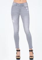 Bebe Grey Essential Skinny Jeans