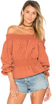 Tularosa x REVOLVE Katie Blouse in Rust. - size L (also in M,S,XS)