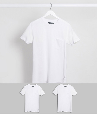 French Connection 2 pack pocket t-shirt
