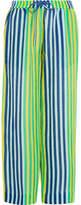 Diane von Furstenberg Striped Linen-blend Pants