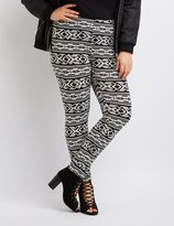 Charlotte Russe Plus Size Tribal Print Leggings