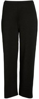 Marina Rinaldi Lurex Wide-Leg Trousers