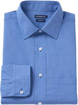 Croft & Barrow Big & Tall Fitted Checked Dress Shirt