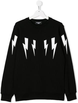 Neil Barrett Kids TEEN thunderbolt sweatshirt