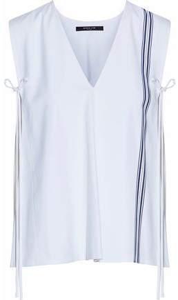 Derek Lam Bow-Detailed Striped Cotton-Poplin Top